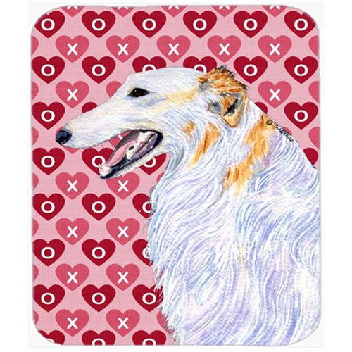Carolines Treasures SS4475MP Borzoi Hearts Love And Valentines Day Portrait Mouse Pad Hot Pad Or Trivet