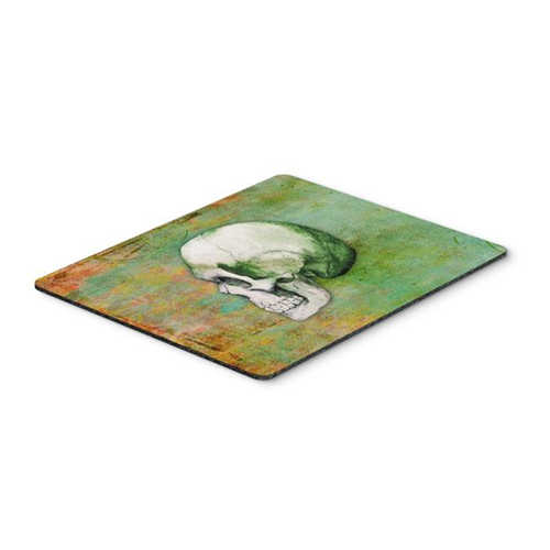 Carolines Treasures BB5122MP Day of the Dead Green Skull Mouse Pad Hot Pad or Trivet