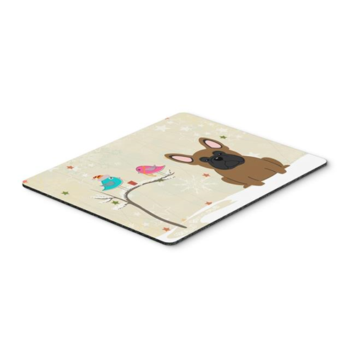Carolines Treasures BB2485MP Christmas Presents Between Friends French Bulldog Brown Mouse Pad Hot Pad or Trivet