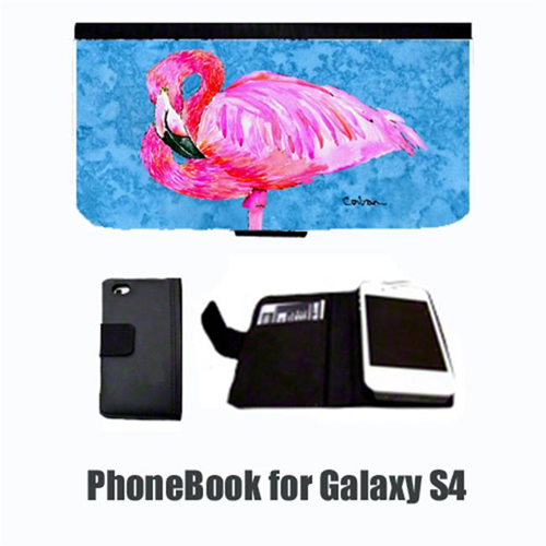 Carolines Treasures 8686-NBGALAXYS4 Bird Flamingo Cell Phonebook Cell Phone case Cover for GALAXY 4S