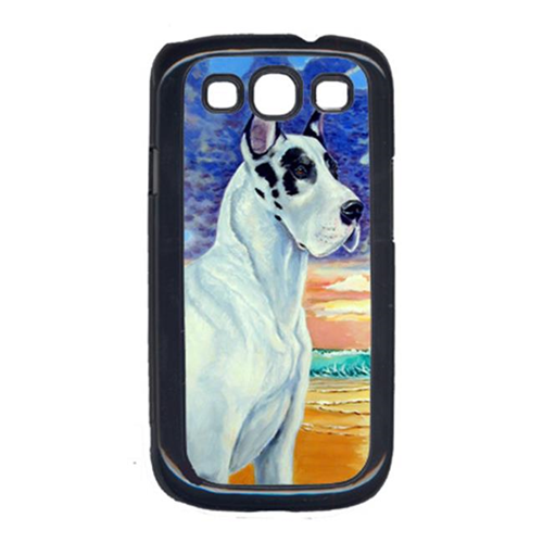 Carolines Treasures 7098GALAXYSIII Great Dane Harlequin Dane At Sunset Galaxy S111 Cell Phone Cover