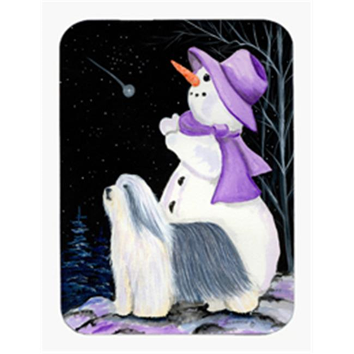 Carolines Treasures SS8947MP Snowman with Bearded Collie Mouse Pad & Hot Pad & Trivet