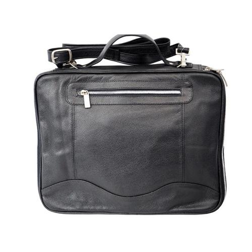 Piel Leather 3122-BLK Mens Leather Laptop & Tablet Case Black
