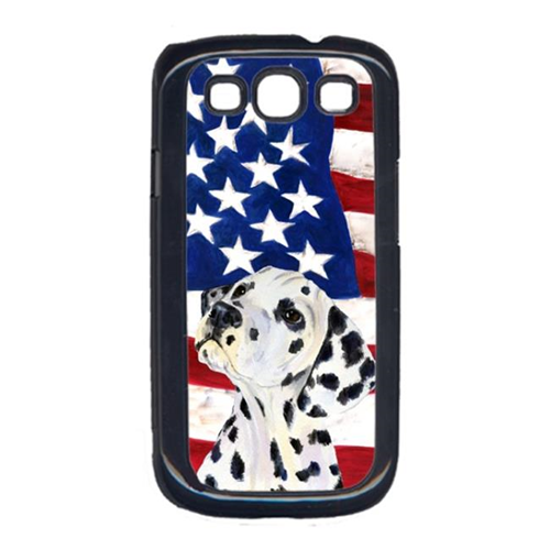 Carolines Treasures SS4018GALAXYS3 USA American Flag with Dalmatian Cell Phone Cover GALAXY S111