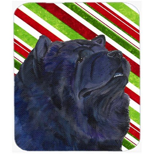 Carolines Treasures SS4570MP Chow Chow Candy Cane Holiday Christmas Mouse Pad Hot Pad Or Trivet
