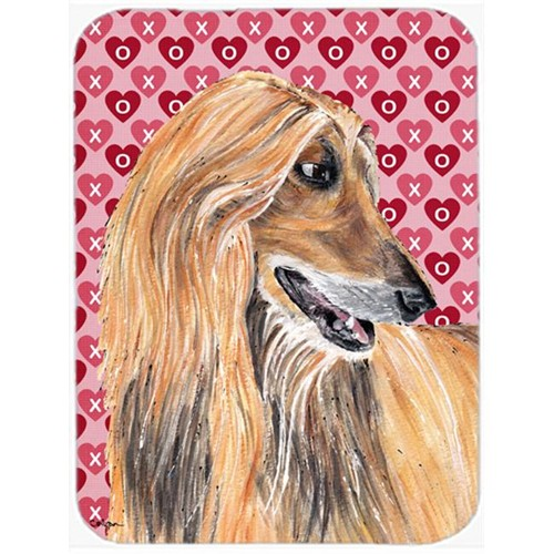 Carolines Treasures SC9503MP 7.75 x 9.25 In. Afghan Hound Hearts Love And Valentines Day Mouse Pad Hot Pad Or Trivet