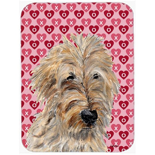 Carolines Treasures SC9715MP Golden Doodle 2 Hearts And Love Mouse Pad Hot Pad Or Trivet 7.75 x 9.25 In.
