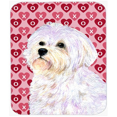 Carolines Treasures SS4481MP Maltese Hearts Love And Valentines Day Portrait Mouse Pad Hot Pad Or Trivet