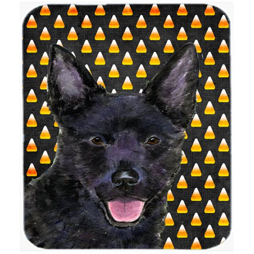 Carolines Treasures SS4291MP Australian Kelpie Candy Corn Halloween Portrait Mouse Pad Hot Pad Or Trivet