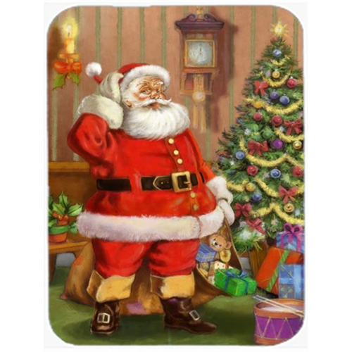 Carolines Treasures APH4691MP Christmas Santa by the Tree Mouse Pad Hot Pad or Trivet