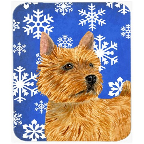 Carolines Treasures SS4637MP Norwich Terrier Winter Snowflakes Holiday Mouse Pad Hot Pad or Trivet