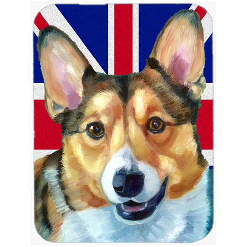 Carolines Treasures LH9602MP Corgi With English Union Jack British Flag Mouse Pad Hot Pad & Trivet
