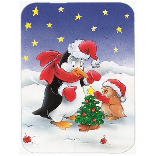 Carolines Treasures AAH7203MP Penguin & Robin with Christmas Tree Mouse Pad Hot Pad or Trivet