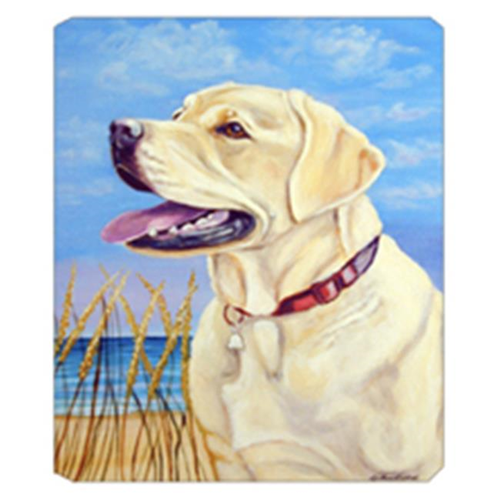 Carolines Treasures 7158MP 8 x 9.5 in. Yellow Labrador at the Beach Mouse Pad Hot Pad Or Trivet