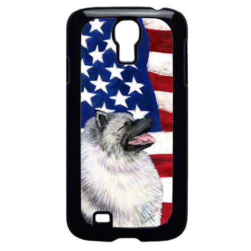 Carolines Treasures SS4051GALAXYS4 USA American Flag With Keeshond Galaxy S4 Cell Phone Cover
