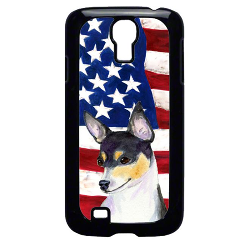 Carolines Treasures SS4002GALAXYS4 USA American Flag with Fox Terrier Cell Phone Cover GALAXY S4