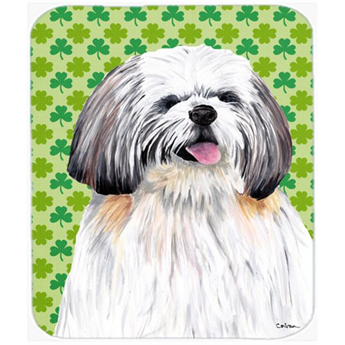 Carolines Treasures SC9303MP Shih Tzu St. Patricks Day Shamrock Portrait Mouse Pad Hot Pad or Trivet