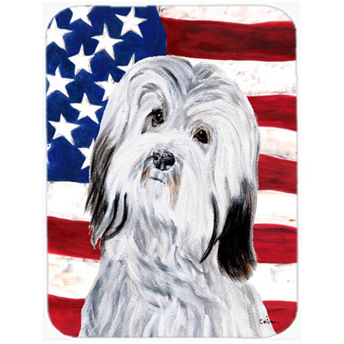 Carolines Treasures SC9641MP Havanese With American Flag Usa Mouse Pad Hot Pad Or Trivet 7.75 x 9.25 In.