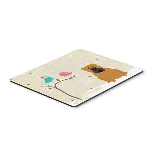 Carolines Treasures BB2594MP Christmas Presents Between Friends English Bulldog Red Mouse Pad Hot Pad or Trivet