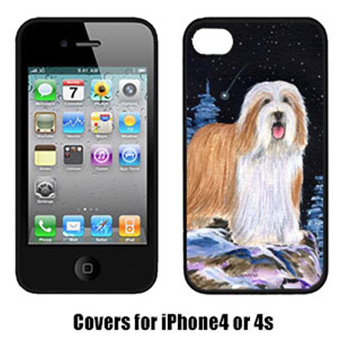 Carolines Treasures SS8451IP4 Starry Night Bearded Collie Cell Phone cover IPhone 4