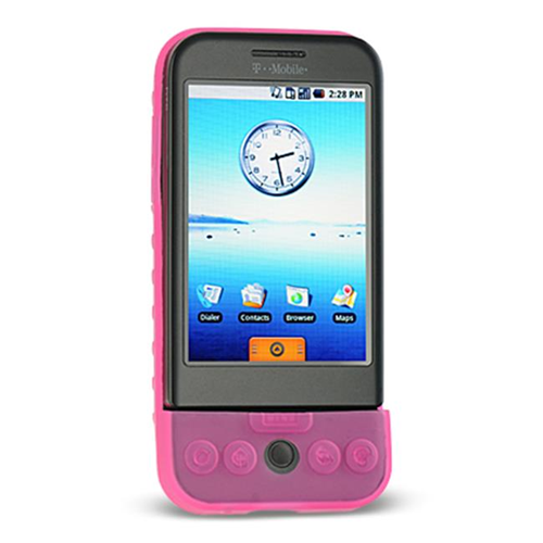 DreamWireless SCHTCG1HP-PR HTC Dream & G1 Premium Skin Case - Hot Pink