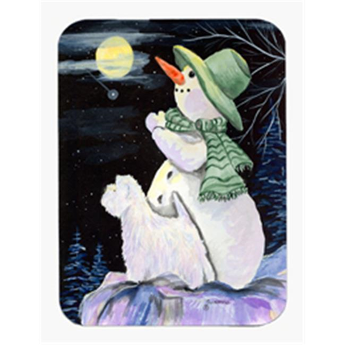 Carolines Treasures SS8797MP Snowman With Westie Mouse Pad & Hot Pad Or Trivet