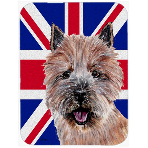 Carolines Treasures SC9877MP 7.75 x 9.25 In. Norwich Terrier With English Union Jack British Flag Mouse Pad Hot Pad Or Trivet