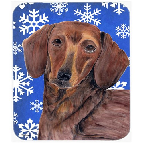 Carolines Treasures SC9368MP Dachshund Winter Snowflakes Holiday Mouse Pad Hot Pad or Trivet