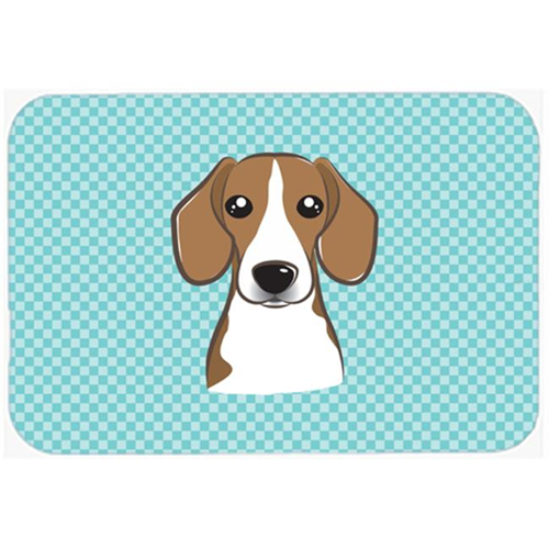 Carolines Treasures BB1177MP Checkerboard Blue Beagle Mouse Pad Hot Pad Or Trivet 7.75 x 9.25 In.