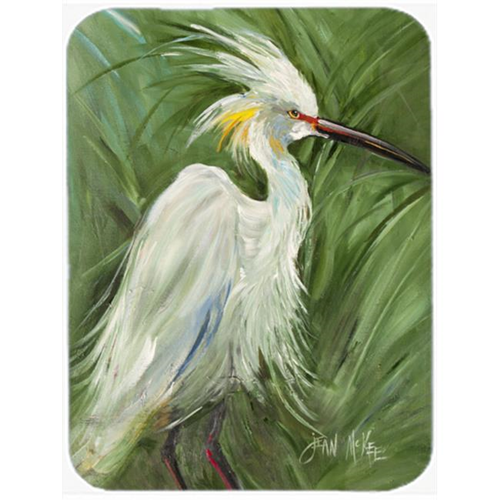 Carolines Treasures JMK1141MP White Egret In Green Grasses Mouse Pad Hot Pad & Trivet