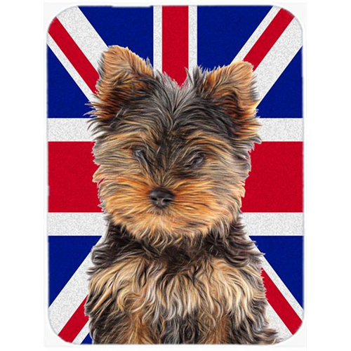 Carolines Treasures KJ1167MP Yorkie Puppy & Yorkshire Terrier with English Union Jack British Flag Mouse Pad Hot Pad or Trivet