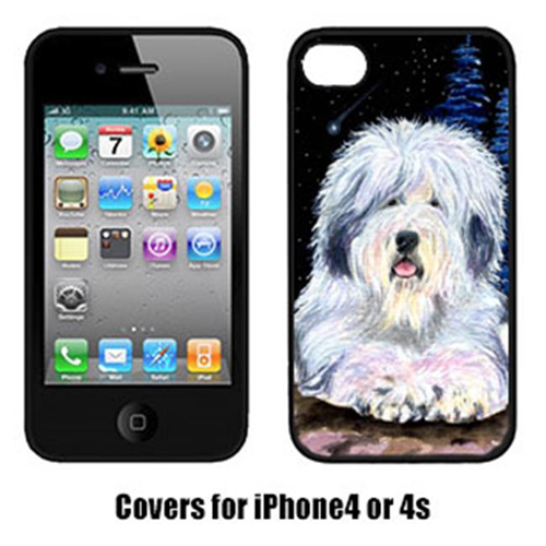 Carolines Treasures SS8443IP4 Starry Night Old English Sheepdog Cell Phone Cover Iphone 4