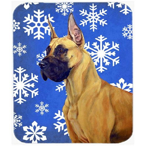 Carolines Treasures LH9265MP Great Dane Winter Snowflakes Holiday Mouse Pad Hot Pad Or Trivet