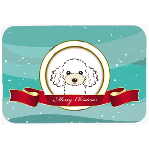 Carolines Treasures BB1567MP White Poodle Merry Christmas Mouse Pad Hot Pad & Trivet