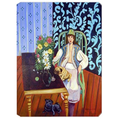 Carolines Treasures 7265MP 8 x 9.5 in. Lady with her Pug Mouse Pad Hot Pad or Trivet