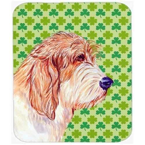 Carolines Treasures LH9217MP Petit Basset Griffon Vendeen Shamrock Mouse Pad Hot Pad or Trivet
