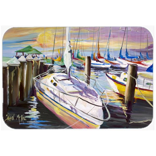 Carolines Treasures JMK1044MP Sailboats At The Fairhope Yacht Club Docks Mouse Pad Hot Pad & Trivet