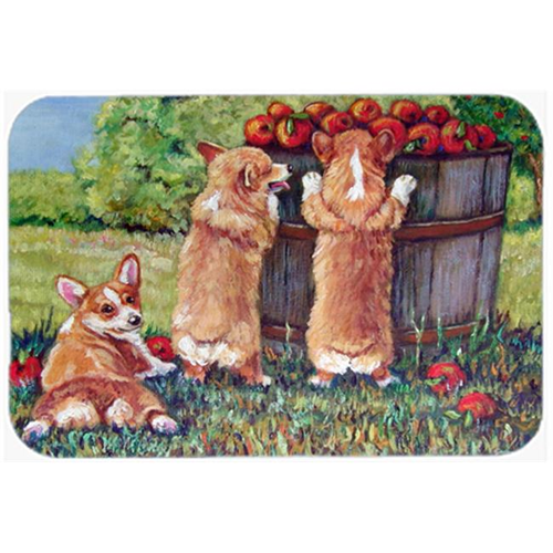 Carolines Treasures 7351MP Apple Helper Corgis Mouse Pad Hot Pad & Trivet