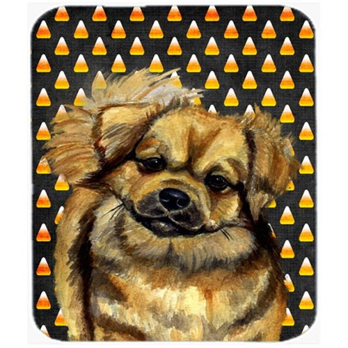 Carolines Treasures LH9044MP Tibetan Spaniel Candy Corn Halloween Portrait Mouse Pad Hot Pad or Trivet