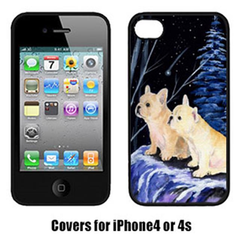 Carolines Treasures SS8395IP4 Starry Night French Bulldog Cell Phone cover IPhone 4