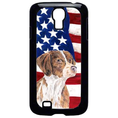Carolines Treasures SC9112GALAXYS4 USA American Flag with Brittany Cell Phone Cover GALAXY S4