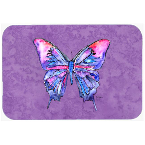 Carolines Treasures 8860MP Butterfly on Purple Mouse Pad Hot Pad or Trivet
