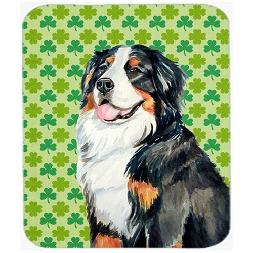 Carolines Treasures LH9199MP Bernese Mountain Dog St. Patricks Day Shamrock Mouse Pad Hot Pad or Trivet