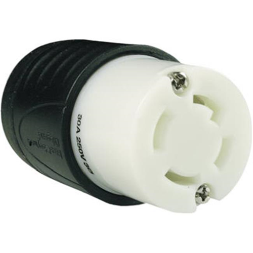 Pass & Seymour L1530CCC Connector 30A Black & White