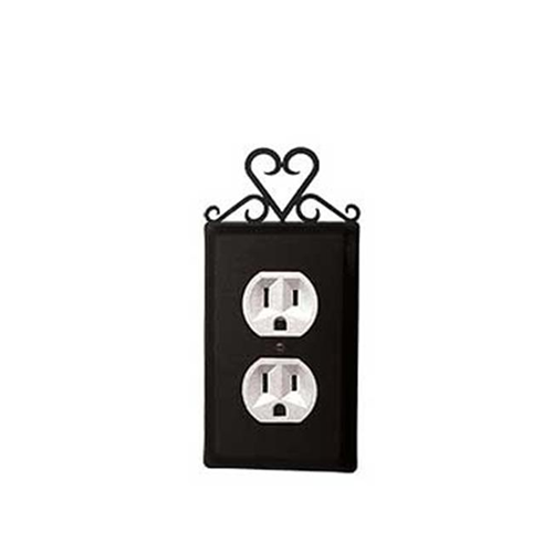 Village Wrought Iron EO-51 Heart Outlet Cover