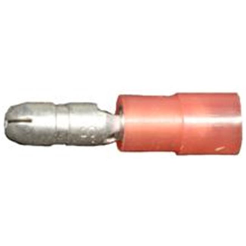 Morris Products 12052 Nylon Insulated Double Crimp Bullet Disconnects - 22-16 Wire.157 Bullet Pack Of 100