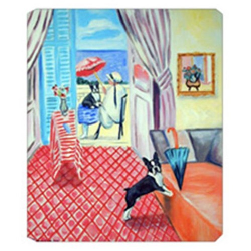Carolines Treasures 7120MP 8 x 9.5 in. Lady with her Boston Terrier Mouse Pad Hot Pad Or Trivet