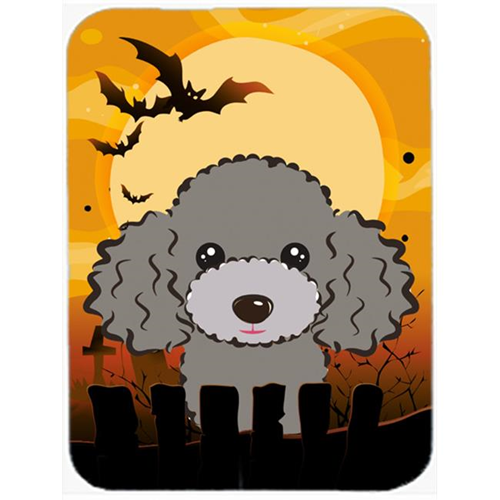 Carolines Treasures BB1817MP Halloween Silver Gray Poodle Mouse Pad Hot Pad & Trivet
