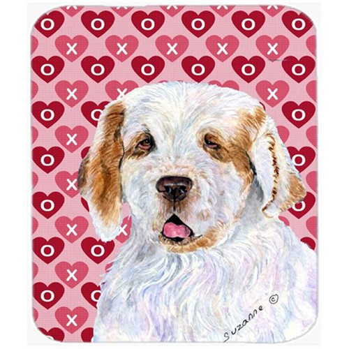 Carolines Treasures SS4500MP Clumber Spaniel Hearts Love And Valentines Day Mouse Pad Hot Pad Or Trivet