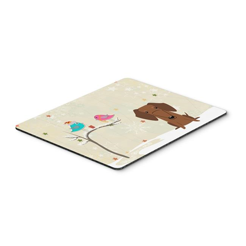 Carolines Treasures BB2602MP Christmas Presents Between Friends Dachshund Red & Brown Mouse Pad Hot Pad or Trivet